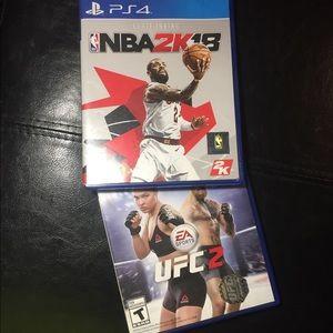 Ufc 2 & NBA 2k18